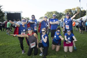 Team Justice League donned superhero gear in prep for Race Judicata on Sept. 13 in Lincoln Park. The yearly 5K Run/Walk brings together lawyers and staff from firms, government agencies, law schools and nonprofits across the city to benefit Chicago Volunteer Legal Services. The 2018 race was the 24th anniversary of the run.