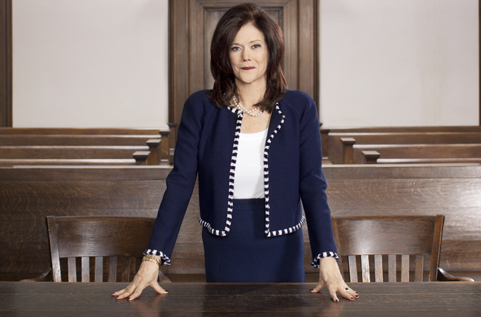 Kathleen Zellner, of Kathleen T. Zellner &amp; Associates, in a Kankakee County courtroom.&nbsp;<em>Lisa Predko</em>