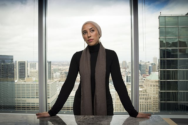 Why attorney Iman Boundaoui spends her nights at an airport terminal - Photo by Rena Naltsas