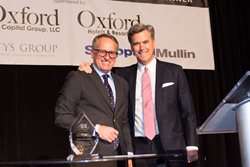 <em>Sheppard Mullin Chicago managing partner Larry Eppley presented John Rutledge, founder, president and CEO of Oxford Capital Group and Oxford Hotels & Resorts, with the Anti-Defamation League of Chicago's 2016 Arthur Rubloff Humanitarian Award on Dec. 8 at the Palmer House Hilton. The award honors highly accomplished real estate and business professionals who have simultaneously demonstrated a deep commitment to philanthropy leadership.</em>