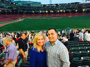Clifford Law Offices associate Kimberly M. Halvorsen and partner Michael S. Krzak attended the American Association for Justice welcome reception at Fenway Park while attending AAJ Annual Convention in Boston at the end of July. Krzak, then chair and moderator of the AAJ Aviation Law Section, put together a program on Terrorism in Aviation and Related Litigation Issues for the Aviation Law Section Meeting.  Halvorsen spoke on one of the panels regarding conducting written discovery and depositions In Re September 11 Litigation.