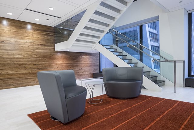 <em>ISBA Mutual&rsquo;s new space occupies the eighth floor of 20 S. Clark St. &mdash; one floor below the Illinois State Bar Association&rsquo;s headquarters.</em>&nbsp;<em>Alan Sue, ISBA Mutual</em>