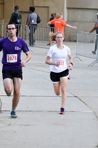 Perkins Coie associate Sarah David was the first-place finisher in the women's category, with a time of 18:36.