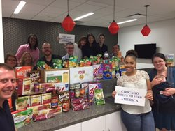Attorneys and staff from the Chicago office of Fox Rothschild collected food and monetary donations throughout the month of June to support Feeding America as part of the firm's FoxCares Summer of Giving initiative.