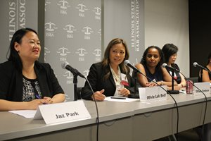 Olivia T. Luk Bedi, a partner at Neal Gerber & Eisenberg, spoke on a panel featuring minority female litigators at the Minority Bar CLE Conference on June 28. The panel was moderated by Jaz Park from the Law Offices of Chicago-Kent College of Law, and panelists included Tiffany S. Fordyce, a shareholder at Greenberg Traurig; Margaret (Peggy) J. Rhiew, a Dykema Gossett attorney; and Rosa M. Tumialán, a Dykema Gossett member.