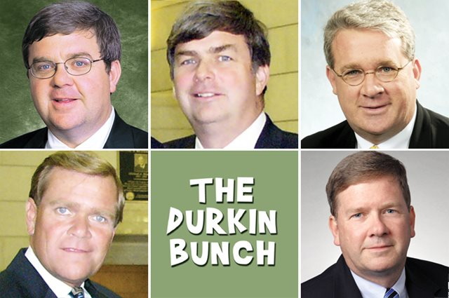 The Durkin brothers. Top row: Kevin, Mike and Jim. Bottom row: Terry and Tom.