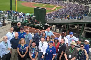 The Illinois Judges Foundation held a fundraiser on a Wrigley Field rooftop on June 16 to support local school programs.