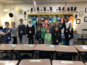 On March 15, Salvi, Schostok & Pritchard partners Tara R. Devine and Jennifer L. Ashley presented at Butterfield Grade School's Career Day. They helped the students put on a mock trial, the case of B.B. Wolf v. Ms. Curly Pig.